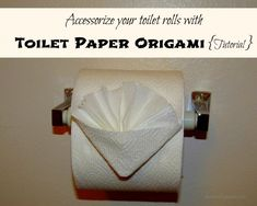 Here's a fun and easy way to accessorize your toilet rolls with Toilet Paper Origami {A Mommy Snippets 12 step Tutorial} #ScottValue #PMedia #Ad
