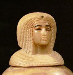 Canoptic jar of Kiya, a secondary wife of Pharaoh Akhenaten.