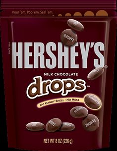 A LOT OF HERSHEY'S HAPPINESS IN A LITTLE DROP.