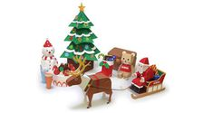 Papercraft for Kids - Christmas Paper Toy Set Free Templates Download