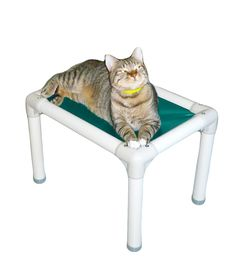 Kuranda Cat Bed - Chewproof - Almond PVC - Heavy Duty Vinyl Fabric ** Additional details at the pin image, click it : Beds for Cats Heated Cat Bed, Cat Perch, Outdoor Cats, Vinyl Fabric, Cat Accessories, Cat Crafts, Cat Sitting, Buy A Cat, Gatos