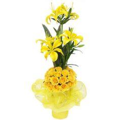 #onlineflowerdeliverytoindia #flowerbouquetonline #flowerdeliveryinpunjab #onlinegiftstoindia   #sendflowersjalandhar #flowertopunjab                    Ph : 9216850252              To Buy This Product : http://www.indiacakesnflowers.com/product/6-multibuds-lillium-20-roses/   website :http://www.indiacakesnflowers.com/
