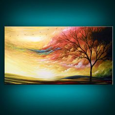 ORIGINAL modern abstract large cloud painting giclee by mattsart, $299.00