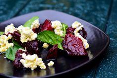 Salat med rødbete og skjørost