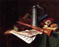 """Still Life with Clarinet"" -William Michael Harnett"