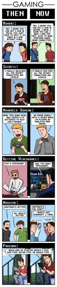 Gaming, Then Now Part 2 Pokemon never changes #comic #comicstrip #cartoon