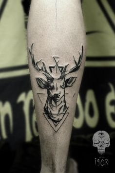 Deer Arm Tattoo #tattooideaslive #deer #arm #animal #tattoos