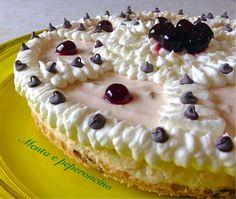 Cheesecake con Amarene e Gocce di Cioccolato - Menta e Peperoncino