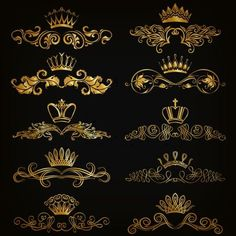 Crown with golden ornaments luxury vector 02 ornaments luxury golden crown Crown Drawing, Crown Tattoo Design, Page Decoration, Crown Logo, Golden Crown, Luxury Logo, Logo Design, Graphic Design, Web Design