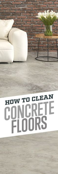 When cleaning up spills on concrete, it's important to use a cleaner that will take care of dirty areas without damaging your concrete sealant. Simple Green All-Purpose Cleaner gets the job done, with a non-toxic and biodegradable formula that's safer Flooring, Bathroom Smells, Clean Concrete, Diy Cleaning Products, Cleaning Household, Cleaning Hacks, Concrete, Cleaning Concrete Floors, Clean House