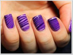 Cool Purple Nail Designs for womens 2015