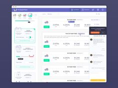 Very excited to finally share this design I've been working on for the past weeks. Brand new loan dashboard made from the scratch.   This shot shows some of the cool features for this new version, ...