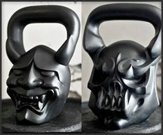 DemonBells - makers of custom kettlebells...These would make me feel like such a badass when working out