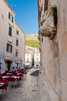 Dubrovnik, Croatia. Restaurants and cafes are awesome.