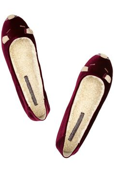 Marc by Marc Jacobs velvet mouse slippers.