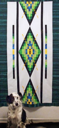 """Argyle Style""--new quilt design created this weekend with Anthology Batiks!"