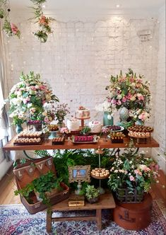 Candy Bar Party, Floral Wedding Decorations, Desert Table, Fiesta Party, Flower Wallpaper, Holidays And Events, Wedding Details, Wedding Day, Marriage