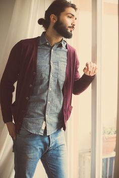 stylish beard mens with long hair and tattoo tumblr - Pesquisa Google