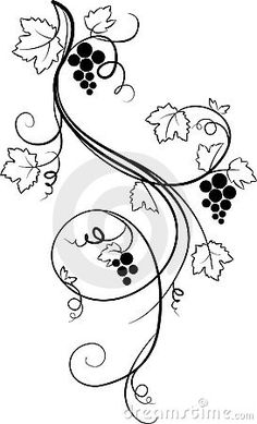 Decorative grape illustration (sketch)