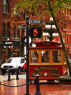 Vancouver Trolley Company in Gastown in Vancouver, BC, Canada by rae tucker photography Vancouver British Columbia, North Vancouver, Vancouver Island, Vancouver Gastown, Vancouver Photography, Scenic Photography, O Canada, Canada Travel, Alberta Canada