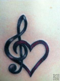 9. #jolie musique et #forme de coeur - 32 #tatouages de poignet…