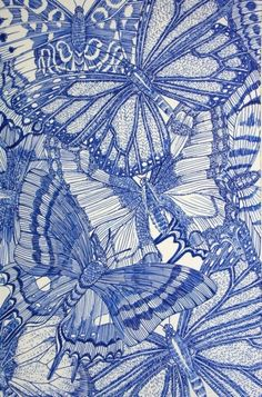 Ink Drawing Ball Point Pen Drawing by the talented Jessica Stock - When I am inspired I feel most alive. Welcome to my dumping ground for what I find inspirational as well as what I have been inspired to create. Henri Matisse, Ballpoint Pen Art, Butterfly Drawing, Butterfly Wings, Ink Drawings, Cross Hatching, Monochrom, Kirigami, Art Plastique