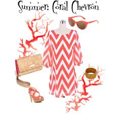 A fashion look from August 2013 featuring embelished dress, western boots and yellow necklace. Browse and shop related looks. Chevron Dress, Coral Chevron, Summer Outfits, Cute Outfits, Preppy Outfits, Fashion Outfits, Womens Fashion, Fashion Ideas, Mom Fashion