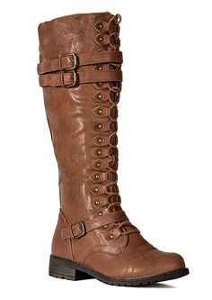 Vintage Style Hipster Bohemian Boho Chic Buckle Strap Western Combat Boots -- This is an Amazon Affiliate link. Find out more about the great product at the image link.