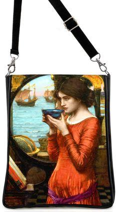 Destiny — Pre-Raphaelite William Waterhouse print, black version