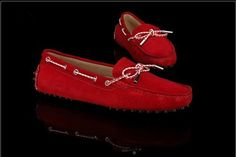 Tods Cowhide Gommino Red Driving Shoes