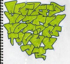 Imagem relacionada Graffiti Lettering Alphabet, Graffiti Font, Graffiti Styles, Alphabet Letters, Typography, Creative Lettering, Lettering Design, Hand Lettering, Humble Tattoo