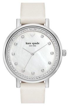 Free shipping and returns on kate spade new york 'monterey' leather strap watch, 35mm at Nordstrom.com. Radiant…