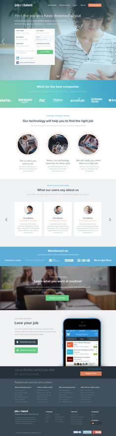 Jobandtalent landing redesign - Find the job of your dreams by Jaime de Ascanio colorful modern web design website graphic color flat ui ux graphics inspiration Modern Web Design, Creative Web Design, Web Ui Design, Web Design Agency, Dashboard Design, Design Design, Website Design Inspiration, Web Design Inspiration, Web Layout
