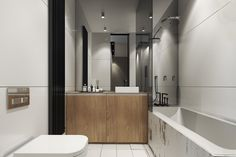 white and gray simple bathroom
