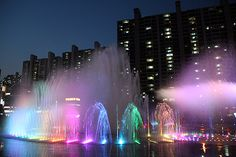 The Dadaepo Sunset Fountain of Dreams in Busan #korea