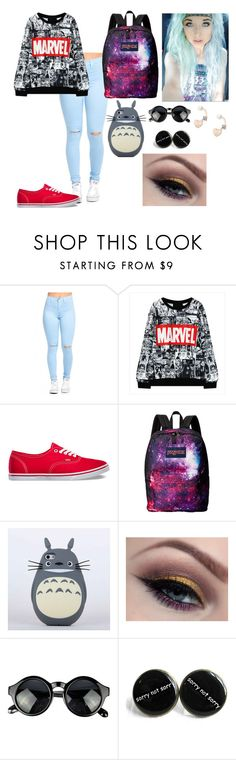 """""""poiyutdr"""" by annie-hall-barton ❤ liked on Polyvore featuring Vans, JanSport and Lipsy"""