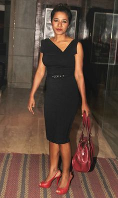 Tannishtha Chatterjee at the screening of 'Haider'. #Bollywood #Fashion #Style #Beauty