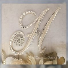 Pearl Cake Topper Wedding Cake Topper by ShellCoastalDesigns