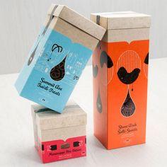 + Design de embalagem :   Desenvolvido pela KNOCK INC, as embalagens para os produtos da The Twin Cities Candy Company são belos e simples.