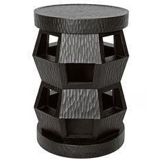 Bungalow 5 Zanzibar Black Stool/Side Table @Zinc_Door