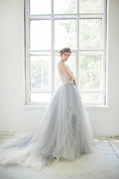 Welcome to the Weekend! Friday Link Love! Grey Wedding Dresses, Tulle Wedding Skirt, Blue Wedding, Dream Wedding, Wedding Gowns, Blue Bridal, Tulle Gown, Tulle Skirts, Lace Dress