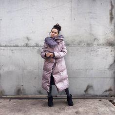 Frauen REAL unten Mantel geschwollene Mantel Winter gefüllt