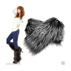 women's Fluffy Fuzzy Faux Fur Fashion/Dance Leg Warmers Muffs Boot... via Polyvore