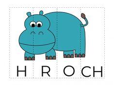 RVP - Skládání slov a obrázků Montessori, Alphabet, Preschool, Family Guy, Education, Books, Animals, Fictional Characters, Puzzle