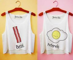 Bacon & Egg Best Friend crop tops- Yotta Kilo