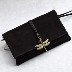 Dragonfly Evening bag Leather Clutch bag and purse by OmniaLeather, £120.00