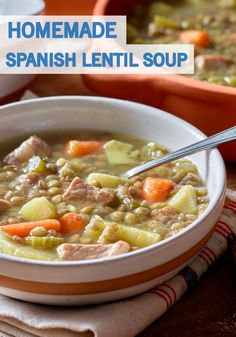 Serve a comforting classic for dinner tonight with this Spanish Lentil ...