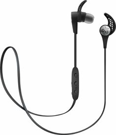 Travel Workout Headphones for Matt -- JayBird - X3 Wireless In-Ear Headphones - Blackout - Front Zoom