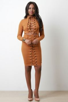 051a4e4297 Laced Up Tight Cut Out Midi Dress – Bend the Trend Boutique