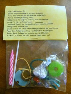 Anti -Depression Kit 10 items inside - Novelty gift in Home & Garden Greeting Cards & Party Supply Party Supplies Joke Gifts, Gag Gifts, Craft Gifts, Funny Gifts, Silly Gifts, Survival Kit Gifts, Survival Supplies, Little Presents, Novelty Gifts